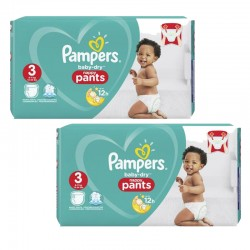 Mega pack 104 Couches Pampers Baby Dry Pants taille 3 sur 123 Couches
