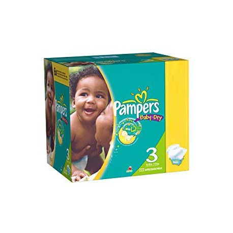 Maxi giga pack 380 Couches Pampers Baby Dry taille 3 sur 123 Couches