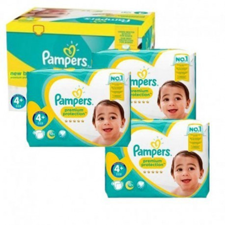 Pack 84 Couches Pampers New Baby Premium Protection taille 4+ sur 123 Couches