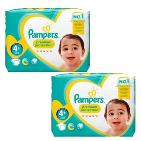 Maxi giga pack 399 Couches Pampers New Baby Premium Protection taille 4+ sur 123 Couches