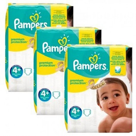Maxi mega pack 441 Couches Pampers New Baby Premium Protection taille 4+ sur 123 Couches