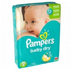 Pack de 37 Couches de la marque Pampers Baby Dry taille 2 sur 123 Couches