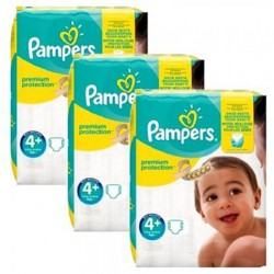 Pack jumeaux 588 Couches Pampers New Baby Premium Protection taille 4+ sur 123 Couches