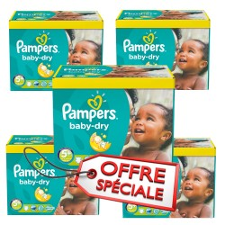 Pack 84 Couches Pampers Baby Dry taille 5+ sur 123 Couches