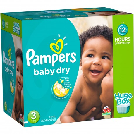 Maxi mega pack 456 Couches Pampers Baby Dry taille 3 sur 123 Couches