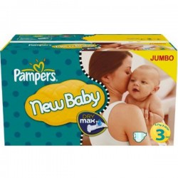 Mega pack 105 Couches Pampers New Baby Premium Protection taille 3 sur 123 Couches