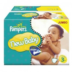 Mega pack 175 Couches Pampers New Baby Premium Protection taille 3 sur 123 Couches
