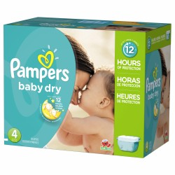 Pack jumeaux 544 Couches Pampers Baby Dry taille 4