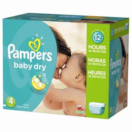 Pack jumeaux 544 Couches Pampers Baby Dry taille 4 sur 123 Couches