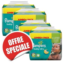 Mega pack 154 Couches Pampers Baby Dry taille 5+ sur 123 Couches