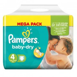 Pack 68 Couches Pampers Baby Dry taille 4