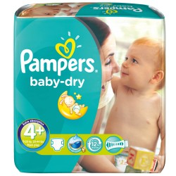 Pack 80 Couches Pampers Baby Dry taille 4+ sur 123 Couches