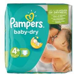 Mega pack 160 Couches Pampers Baby Dry taille 4+ sur 123 Couches