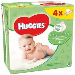 Pack d'une quantité de 256 Lingettes Bébés Huggies Natural Care - 4 Packs de 64