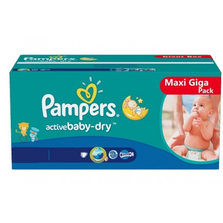 Maxi mega pack 480 Couches Pampers Baby Dry taille 4+ sur 123 Couches