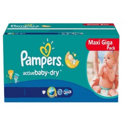 Pack jumeaux 800 Couches Pampers Baby Dry taille 4+ sur 123 Couches
