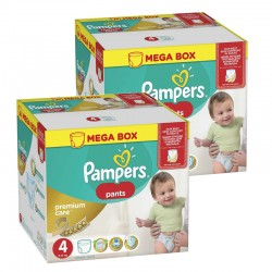 Mega pack 132 Couches Pampers Premium Care Pants taille 4 sur 123 Couches