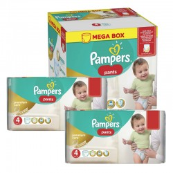 Mega pack 198 Couches Pampers Premium Care Pants taille 4
