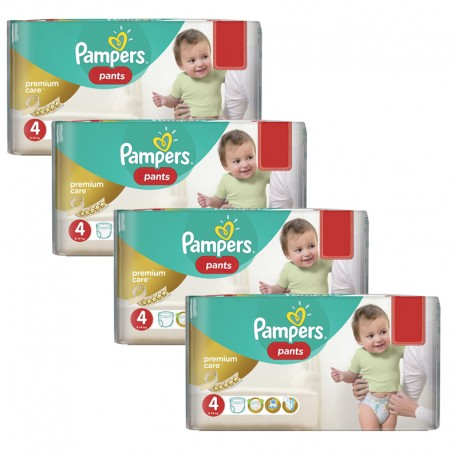Maxi giga pack 330 Couches Pampers Premium Care Pants taille 4 sur 123 Couches