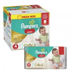 Maxi giga pack 396 Couches Pampers Premium Care Pants taille 4 sur 123 Couches