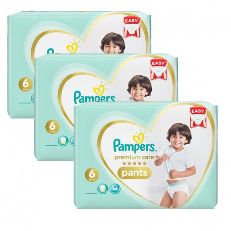 Pack 72 Couches Pampers Premium Care Pants taille 6 sur 123 Couches