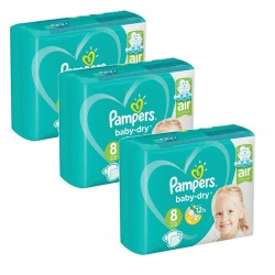 Pack 80 Couches Pampers Baby Dry taille 8 sur 123 Couches