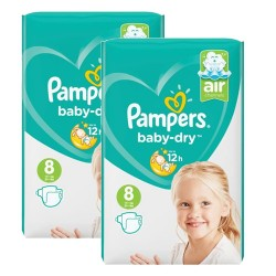 Mega pack 120 Couches Pampers Baby Dry taille 8 sur 123 Couches