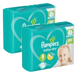 Mega pack 180 Couches Pampers Baby Dry taille 8 sur 123 Couches