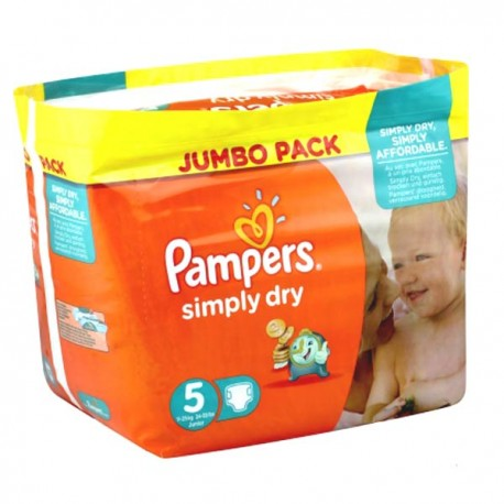 Couches Pampers Simply Dry Taille 5 à Petit Prix 41 Couches Sur