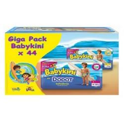 Pack économique de 44 Couches de bains Dodot de la gamme Baby Kini de taille 5