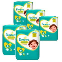 Mega pack 112 Couches Pampers New Baby Premium Protection taille 6 sur 123 Couches