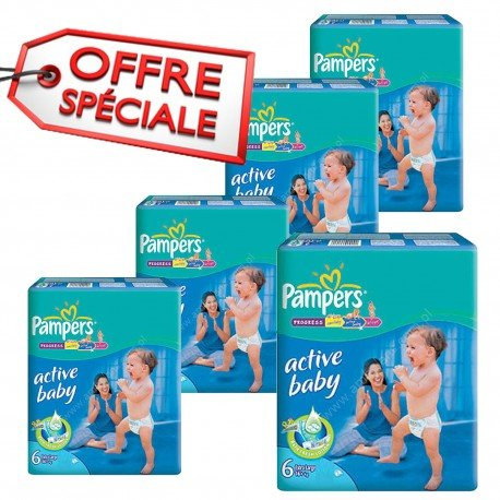 Mega pack 168 Couches Pampers Active Baby Dry taille 6 sur 123 Couches