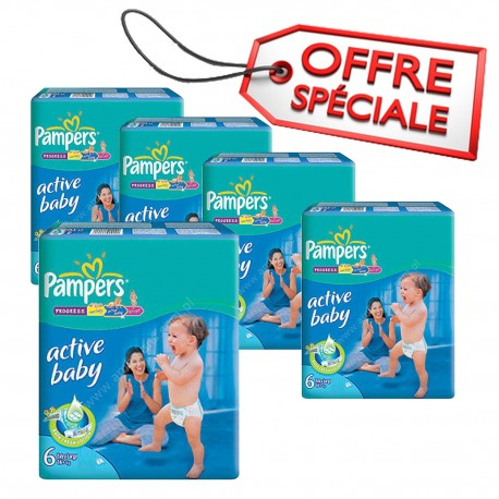 Giga pack 294 Couches Pampers Active Baby Dry taille 6 sur 123 Couches
