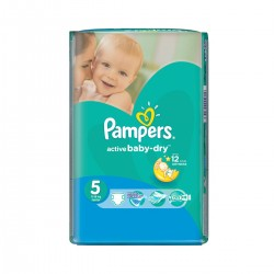 Pack 11 Couches Pampers Active Baby Dry taille 5 sur 123 Couches
