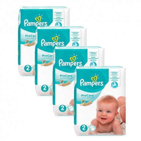 Maxi giga pack 396 Couches Pampers ProCare Premium protection taille 2 sur 123 Couches