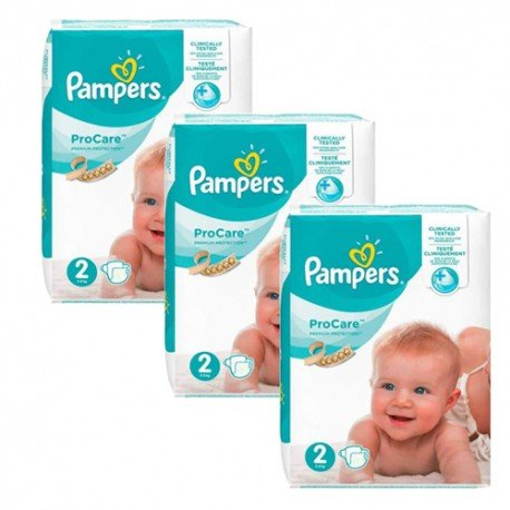 Maxi mega pack 432 Couches Pampers ProCare Premium protection taille 2 sur 123 Couches