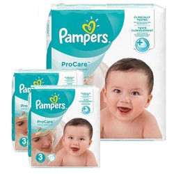 Mega pack 160 Couches Pampers ProCare Premium protection taille 3 sur 123 Couches