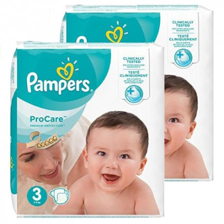 Maxi giga pack 320 Couches Pampers ProCare Premium protection taille 3 sur 123 Couches