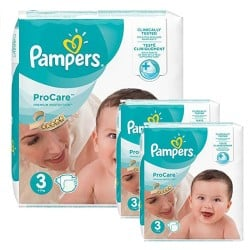 Maxi mega pack 480 Couches Pampers ProCare Premium protection taille 3 sur 123 Couches