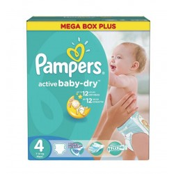 Maxi giga pack 325 Couches Pampers Active Baby Dry taille 4
