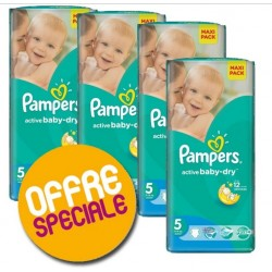 Pack 33 Couches Pampers Active Baby Dry taille 5 sur 123 Couches