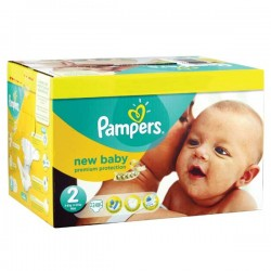 Mega pack 164 Couches Pampers New Baby Premium Protection taille 2 sur 123 Couches