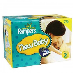 Maxi giga pack 328 Couches Pampers New Baby Premium Protection taille 2 sur 123 Couches