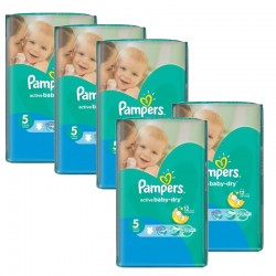 Maxi giga pack 385 Couches Pampers Active Baby Dry taille 5 sur 123 Couches