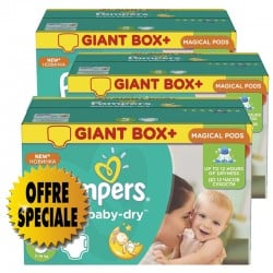 Maxi mega pack 407 Couches Pampers Active Baby Dry taille 5 sur 123 Couches