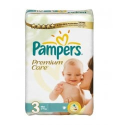 Pack 20 Couches Pampers Premium Care taille 3
