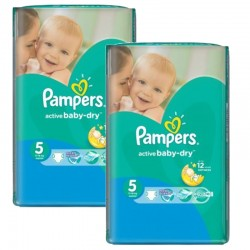 Pack jumeaux 506 Couches Pampers Active Baby Dry taille 5