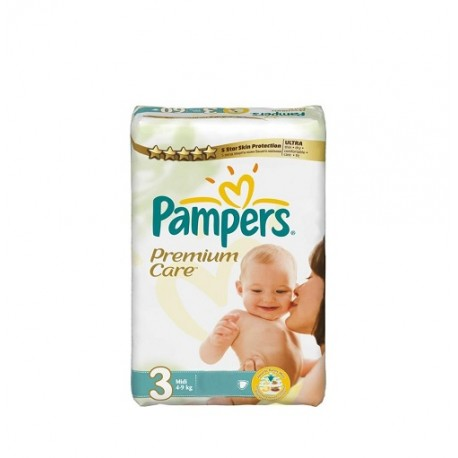 Pack 80 Couches Pampers Premium Care taille 3 sur 123 Couches