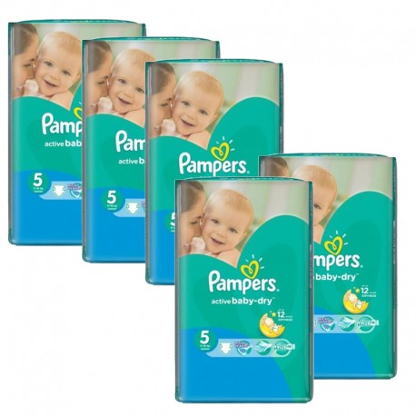 605 Couches Pampers Active Baby Dry taille 5 sur 123 Couches