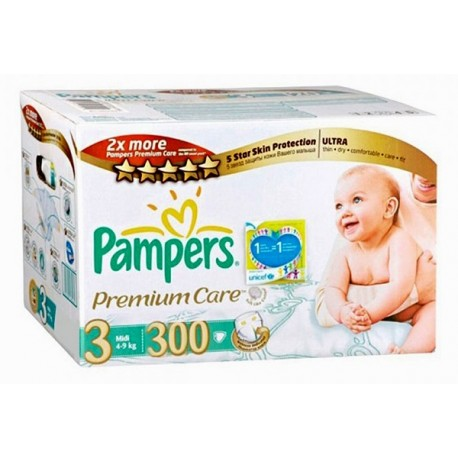 Mega pack 140 Couches Pampers Premium Care taille 3 sur 123 Couches